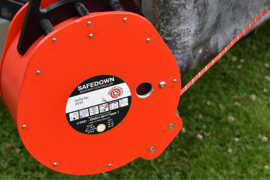 Safedown auto belay climbing wall